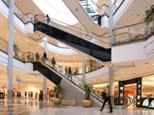 Shopping malls, conference centres, entertainment buildings